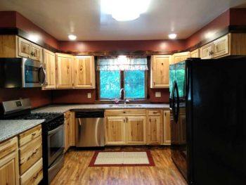 west modern rustic kitchen