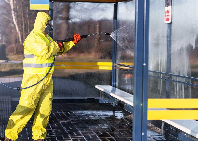 bus stop disinfecting